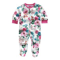 Buy Baby Joule Razamataz Floral Sleepsuit, Cream/Multi Online at johnlewis.com
