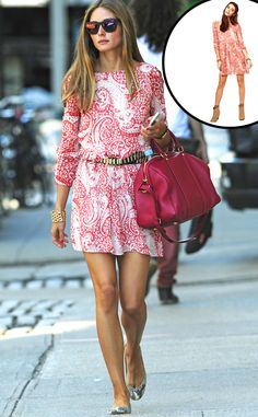 Gimme that! Olivia Palermo's paisley Asos dress is effortlessly summer chic.