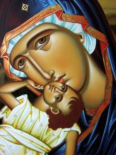 The Theotokos. Beautiful Orthodox Christian icon of the Theotokos / the Virgin Mary / Mother of God. Religious Images, Religious Icons, Religious Art, Byzantine Icons, Byzantine Art, Russian Icons, Blessed Mother Mary, Mary And Jesus, Madonna And Child