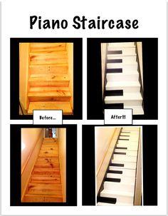 Do Re Mi Fa Sol La Ti Do!  :)  My very own two octave piano staircase!  :)
