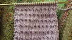 A simple and easy stitch pattern with just knit and purl stitches. Andalusian Knitting Stitch