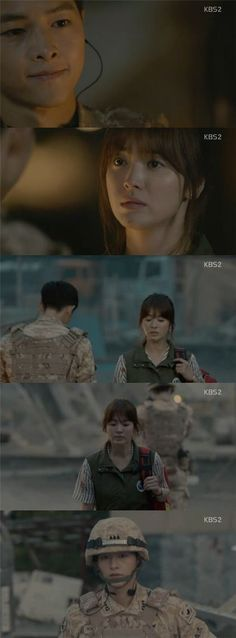 "[Spoiler] 'Descendants of the Sun' Song Joong-ki to Song Hye-kyo, ""I've been regretting all the time because I left without seeing your…"