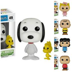 Snoopy and Woodstock Funko Pop Vinyl from the comic strip and TV show Peanuts by Charles M. Schulz Brought to you by Pop In A Box, the site Funko Pop! Peanuts Snoopy, Snoopy Et Woodstock, Peanuts Toys, Peanuts Movie, Disney Pop, Funko Pop Marvel, Pop Vinyl Figures, Rugrats, Desenho New School