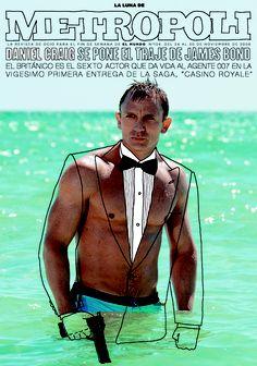 Daniel Craig en 007 CASINO ROYALE, 2006.
