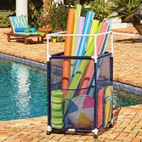 Rolling Storage Bins. Pool Toy ...  sc 1 st  Pinterest & DIY Pool Toy Storage - Easy to make solution for storing pool toys ...