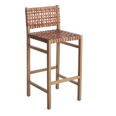 This stool perfectly combines sturdiness and rustic appeal. The Natura Bar Stool provides the security of a strong wooden frame and the aesthetically pleasing design of a woven leather seat. Slide it up to the bar for a natural, down-to-earth polish. Deck Furniture, Cheap Furniture, Dining Room Furniture, Pallet Furniture, Furniture Projects, Discount Furniture, Furniture Stores, Industrial Furniture, Room Chairs