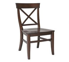 This would go with the tivoli pedestal table. Aaron Wood Seat Chair #potterybarn