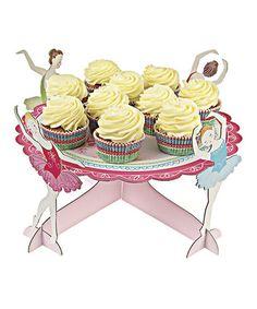 Look at this #zulilyfind! Little Dancers Ballet Cupcake Stand #zulilyfinds