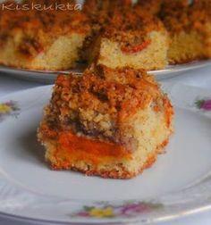 Kiskukta konyhája: Sárgabarackos-diómorzsás sütemény
