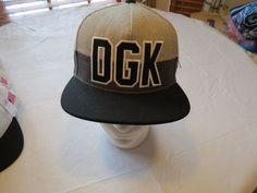 Dirty Ghetto Kids DGK greys RARE Mens adult snap back hat cap surf skate one sz #DGKDirtyGhettoKids #BaseballCap