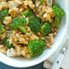 Brown Rice with Chicken and Broccoli Recipe from Vixxenesque   MyRecipes.com Mobile