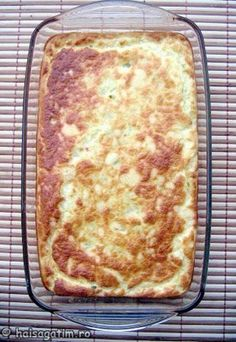Soufle de dovlecei (IMG 6602) imagine reteta Lasagna, Vegetarian Recipes, Food And Drink, Pizza, Cheese, Ethnic Recipes, Mariana, Veg Recipes, Lasagne