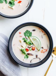 Vegan Tom Kaa Gai- classic Thai coconut milk soup made with cubed tofu in place of chicken. It's creamy, comforting, and takes just 30 minutes to make! One of my favorite memories from our trip to Thailand was the day we spent at the Thai Farm Cooking School. It was the last day we had in Chiang Mai and …