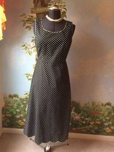 Coldwater Creek Women's Polka Dot Sleeveless Dress SZ 10 #ColdwaterCreek #Sheath