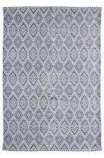 Ellos Home Nevada-matto 140x200 cm Musta/kermanvalkoinen, Sininen/kermanvalkoinen - Puuvilla- ja räsymatot | Ellos Mobile