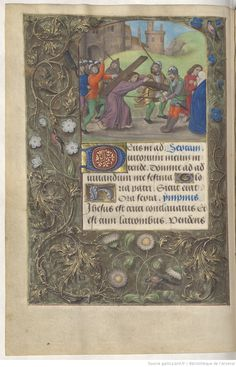 page 37v Medieval Manuscript, Illuminated Manuscript, Arsenal, Book Of Hours, Roman Catholic, Painting, Austria, Spain, Latin Dance