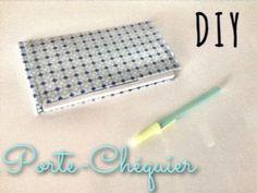 DIY - Création d'un porte chéquier - YouTube