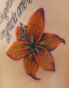 Tiger Lily Tattoo | Tiger Lily on the ribs : Tattoos :