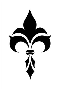 Fleur de lis (ref Stencil Patterns, Stencil Designs, Pattern Art, Stencil Fabric, Drawing Sketches, Art Drawings, Typographie Logo, Custom Stencils, Adhesive Vinyl