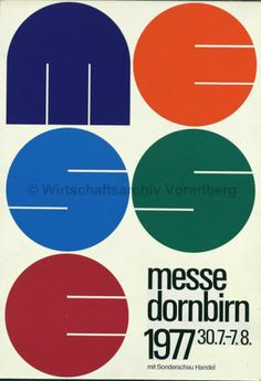 By Othmar Motter (Vorarlberger Graphik), 1977, Fair Dornbirn.