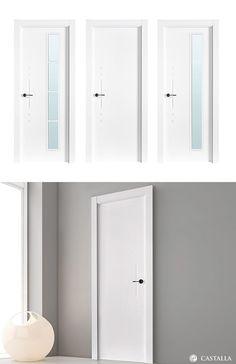 Puerta de Interior Blanca | Modelo Tiziano de la Serie Lacada de Puertas Castalla. Puerta Lacada blanca. Consulta todas sus posibles combinaciones en info@puertascastalla.com | puertas Interiores blancas | puertas de interior blancas | puertas interiores lacadas | puertas de interior lacadas | puertas blancas