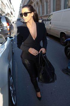 Kim And Kanye Arriving At The Ferdi Restaurant