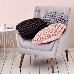 I love these chunky knit cushions from Adairs                                                                                                                                                                                 More