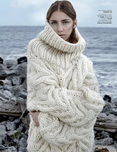 First Snow (Vogue Russia) there isn't any pattern but the photographs are beautiful.  Would love to know where in Russia they were taken.