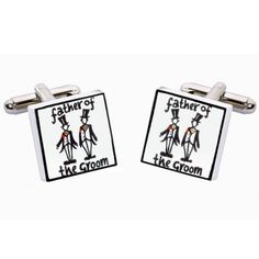 Special Day Father of the Groom Cufflinks  from www.personalisedweddinggifts.co.uk :: ONLY £19.95