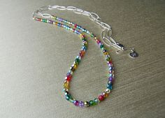 Ligne necklace in multicolor matches everything! http://www.objetsdenvy.com/product.cfm?ProductID=73&CategoryID=3&starting=11