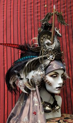 VIKING SHIP HEADDRESS - TAKE THE STEAMPUNK OFF THIS and it would be AWESOME!  Gah!  Get those ugly gears away!  Bleah!