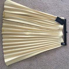 Gold Zara skirt never worn Gold Zara skirt never worn Zara Skirts