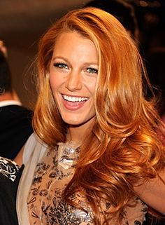 Red with blonde highlights    When my hair grows back out I want this!!!!