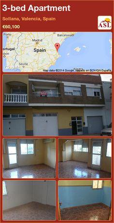 3-bed Apartment in Sollana, Valencia, Spain ►€60,100 #PropertyForSaleInSpain