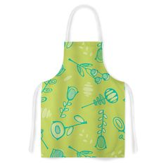 Kess InHouse Holly Helgeson 'Hattie Too' Floral Artistic Apron