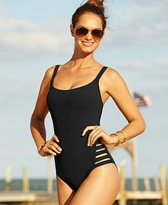 8e917879c10eb Becca Cutout One-Piece Swimsuit - Swimwear - Women - Macy s Cut Out  Swimsuits