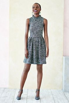 This textured dress will make for the perfect fall frock.