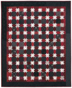 Love this stars quilt -- I did mine in green, red and white.  It's a great Christmas quilt!