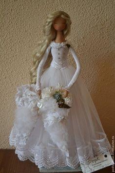 Bonecas artesanais colecionável. Mestres Feira - handmade FADA casamento. Handmade.♡