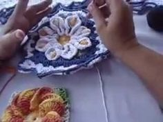 Tapete Flor Copo de Leite Parte 1 - YouTube