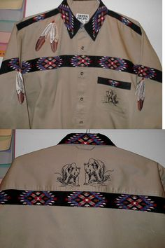 Native American 163146: Eagle Feather-Bear Shirt (Native American Looking) -> BUY IT NOW ONLY: $85 on eBay!