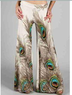 i lova me some Peacock Feather Pants!