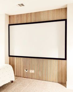 38561 likes, 1773 comments - Slat Wall in the media room is DONE! {swipe} This might be our easiest (and favorite) wood wall project yet! Do It Yourself Quotes, Do It Yourself Home, Slat Wall, Wood Wall, Media Wall, Wood Slats, Kid Spaces, Home Improvement Projects, Game Room