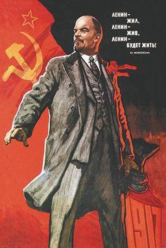Vladimir Lenin propaganda poster
