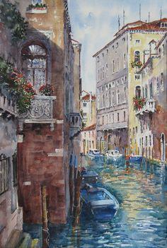 Venetian, Art For Sale, Watercolour, Ink, Painting, Pen And Wash, Watercolor Painting, Watercolor, Painting Art