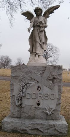 Corso's Angel Located at Calvary Cemetery in St. Louis, MO. Escape to the Silent Cities: Calvary Cemetery