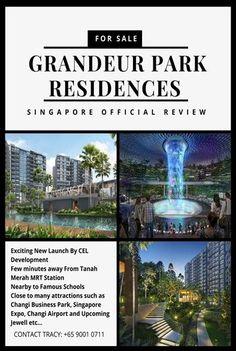Grandeur Park Residences a new launch condo near Tanah Merah MRT. 1 to 5 bedroom to choose from. Grandeur Park Residences price from $500k.