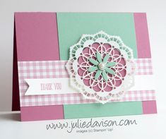 I have had these doily pieces made up for a week or two now, but couldn't decide on a card layout. I was inspired by this week's Global De...
