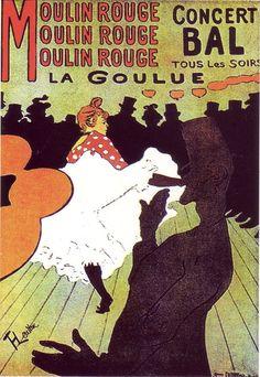 Moulin rouge La Goulue - Henri de Toulouse-Lautrec (Albi, 24 novembre 1864 – Saint-André-du-Bois, 9 settembre 1901)
