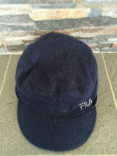 Big Sale Fila Pillbox Hats Worker Fila Reversible Hat Vintage Fila Camp Cap 3 Panel Polyester Nylon Hat Fila Cycling Hat Fit Fila Snack bag by MudeanDean